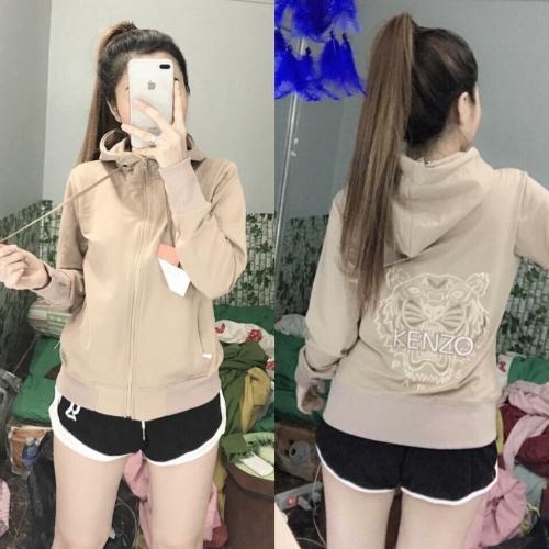 áo khoác nữ dài da cá in Kenzo