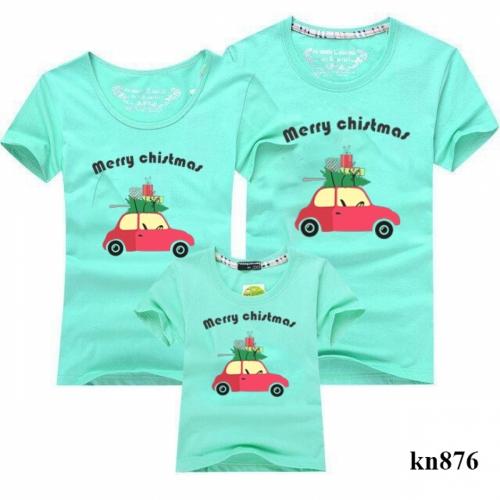 áo thun gia đình in xe hơi noel