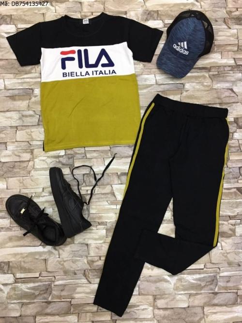 đồ bộ da cá in FILA