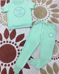 đồ bộ cotton in LV