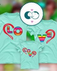 áo thun in chữ Love đơn