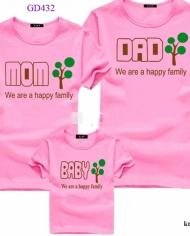 áo thun gia đình in hình cây