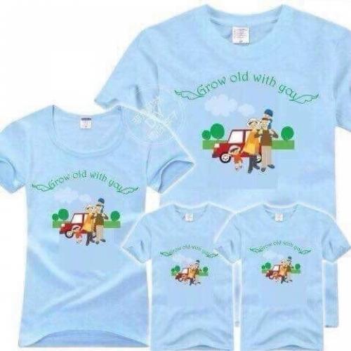 áo gia đình happy summer
