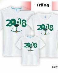 áo gia đình in hình 2018 cách điệu